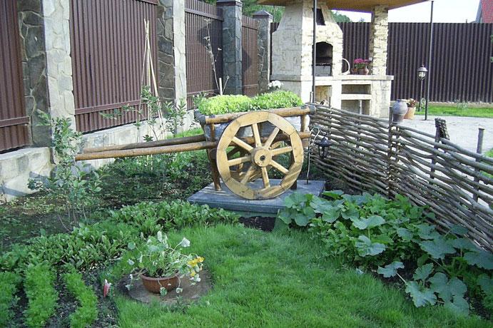 Небольшой но ухоженный огород