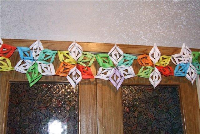 Сделать новогодние гирлянды своими руками из бумаги