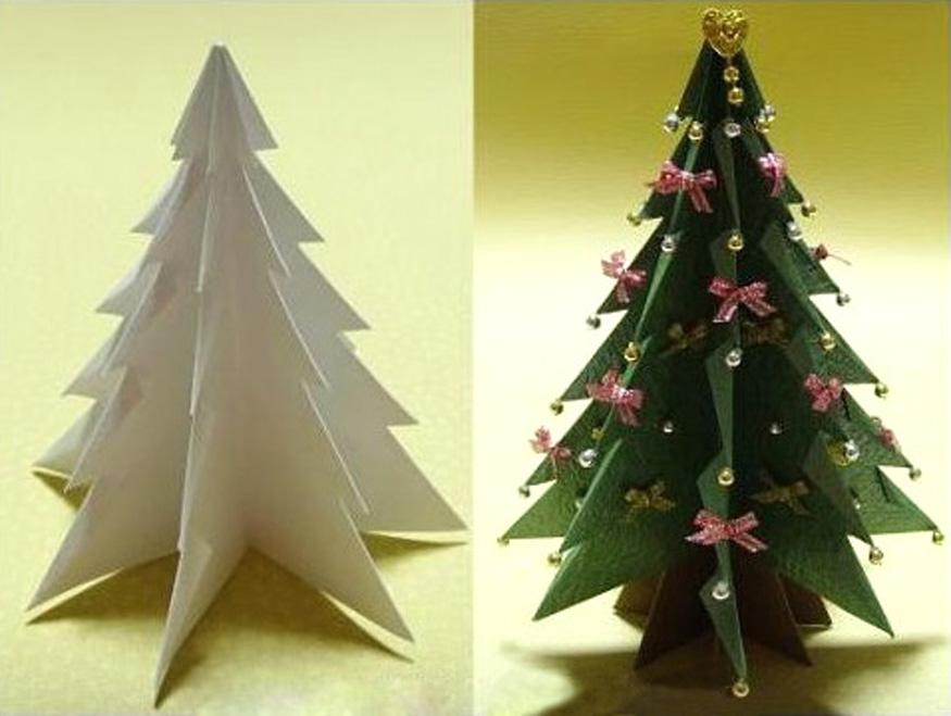 Новогодние елочки из бумаги своими руками фото